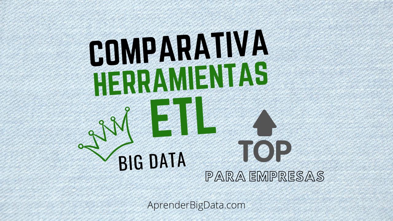 Comparativa herramientas ETL más usadas en la empresa